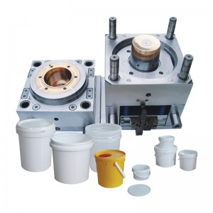 Plastic Injection Pail Mold with Handle and Lid